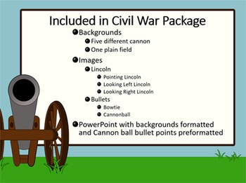 Civil War PowerPoint theme: Cannon and Lincoln