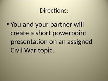 Civil War Powerpoint Project
