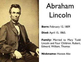 Civil War - President Abraham Lincoln PowerPoint