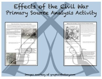 Civil War Primary Source Analysis Activity BUNDLED Set CCSS