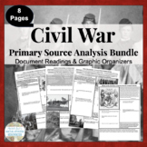 Civil War Primary Source Analysis Activity BUNDLED Set CCSS