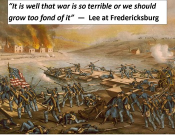 Civil War Primary Sources:  Battle of Fredericksburg (with questions & key)