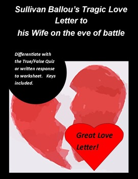Sullivan Ballou's love letter to his wife on the eve of ba
