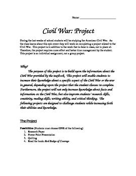 Civil War Project-Four Options