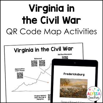 Civil War QR Codes Map Activities (VS.7)