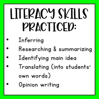 Civil War - Task Cards & Literacy Strategies