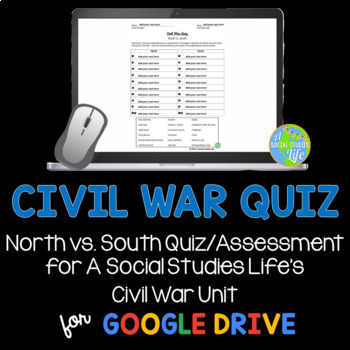 Civil War Quiz or Activity