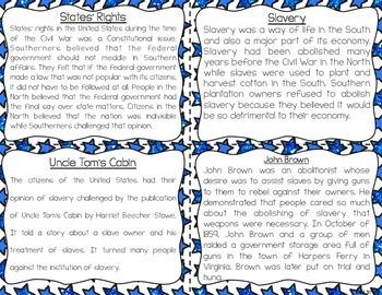 Civil War Reading Comprehension & Fluency Task Cards
