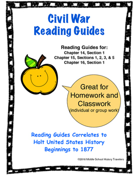 Civil War Reading Guides for Holt Textbook