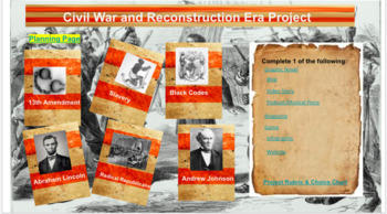 Civil War & Reconstruction Era Project Based Learning