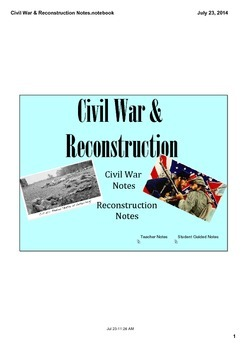 Civil War & Reconstruction Notes