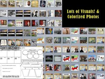 Slavery-Civil War & Reconstruction PowerPoint Bundle