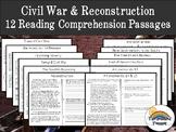 Civil War & Reconstruction Reading Comprehension Packet (h