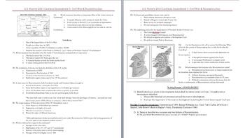 Civil War & Reconstruction Unit Test