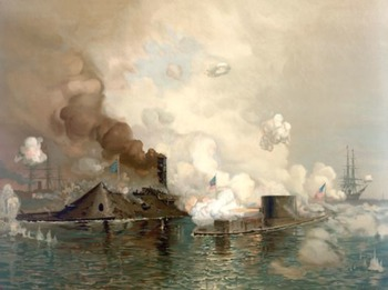 Civil War - Recreate 'The Monitor & Merrimack:The First Fight Between Ironclads'