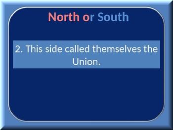 Civil War Regions Quiz