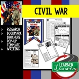 Civil War Research, Bookmark Brochure, Pop-Up, Writing (American History)