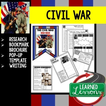 Civil War Research, Bookmark Brochure, Pop-Up, Writing (Am