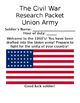 Civil War Research Project & Debate (North vs South!) Packet!