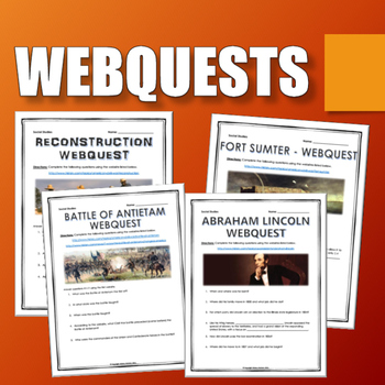 Civil War - Resource Bundle (Projects, PPT's, Assignments, Webquests, etc.)