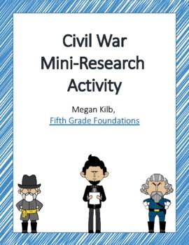 Civil War Introduction, Review, Mini-Research Activity
