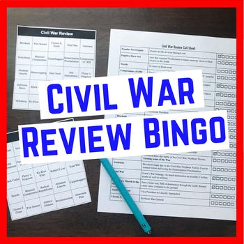 Civil War Review Bingo, Call Sheet