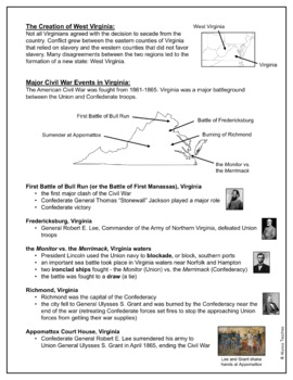 Civil War Study Guide and Review Worksheet (VS.7)