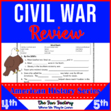 Civil War Activities - 4th, 5th & 6th Grades ~American History Series~