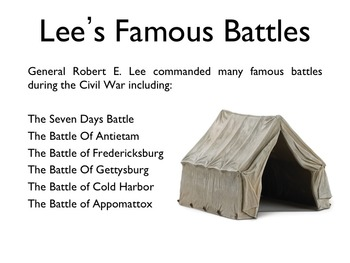 Civil War - Robert E. Lee PowerPoint