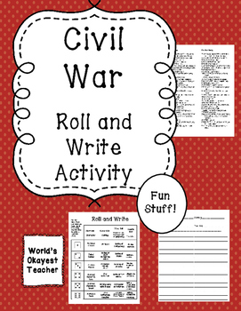 Civil War: Roll and Write