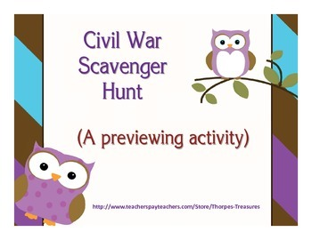Civil War Scavenger Hunt