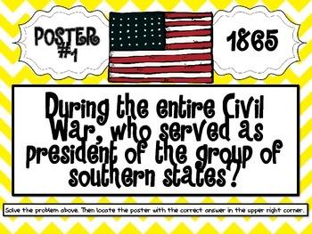 Civil War Scavenger Hunt - Cumulative Review Activity