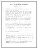 Civil War Scrapbook Assignment Sheet