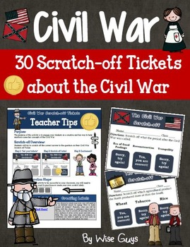 Civil War Scratch Off Tickets