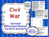 Civil War: Sectional Differences in North and South