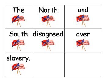 Civil War Sentence Scramble