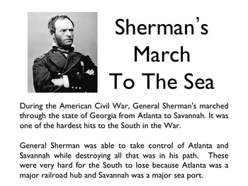 Civil War - Sherman's March To The Sea PowerPoint