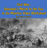 Civil War: Sherman's March to the Sea in Six Minutes Video Worksheet