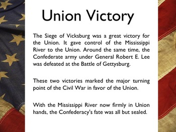 Civil War - Siege At Vicksburg PowerPoint