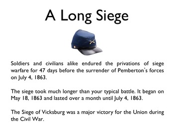 Civil War - Siege At Vicksburg PowerPoint