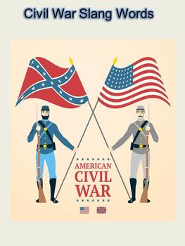 Civil War Slang Words Activity