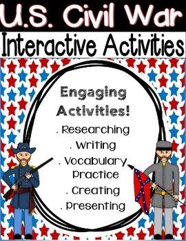 Civil War Social Studies Activities