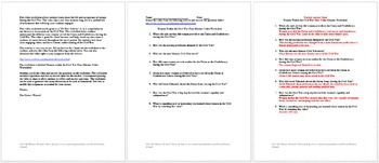 Civil War Society and Daily Life in 4 Minutes Video Worksheet Collection
