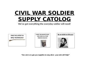 Civil War Soldier Supplies