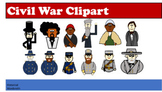 Civil War Soldiers, Politicians and Abolitionist Clipart