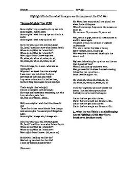 """Civil War """"Some Nights"""" Lyrics Analysis"""
