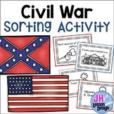 Civil War Sorting Activity