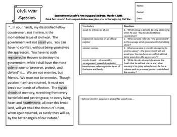 Civil War Speech Analysis
