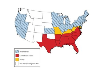 Civil War States Map by MrFitz | Teachers Pay Teachers