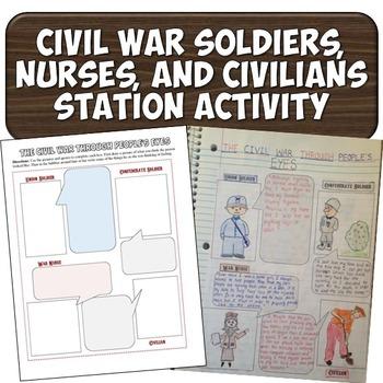 Civil War Station Activity on Soldiers, Nurses, and Civilians